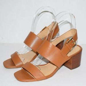 Michael Kors Angeline Acorn Tan Block Heel Sandals